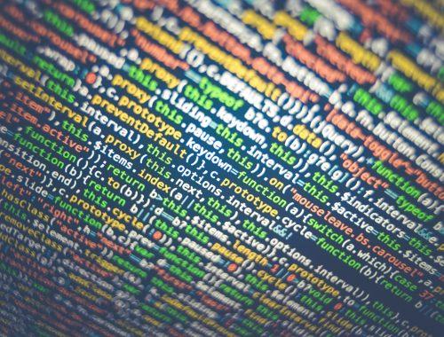 Code sur écran d'ordinateur