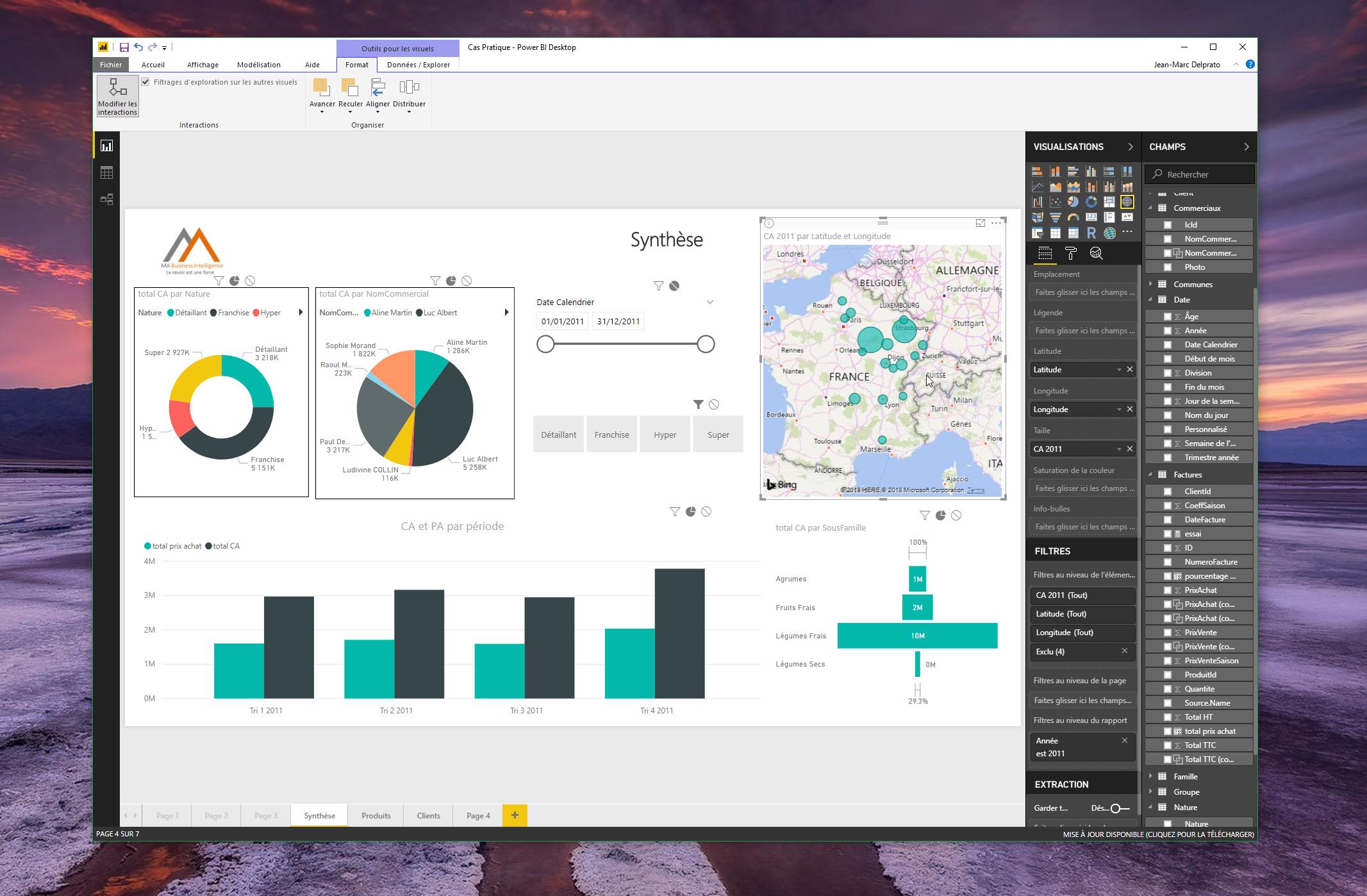 Visualisation de vos données dans Power BI Desktop